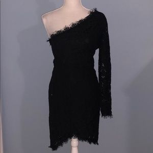 New Charlotte Russe one sleeve lace dress